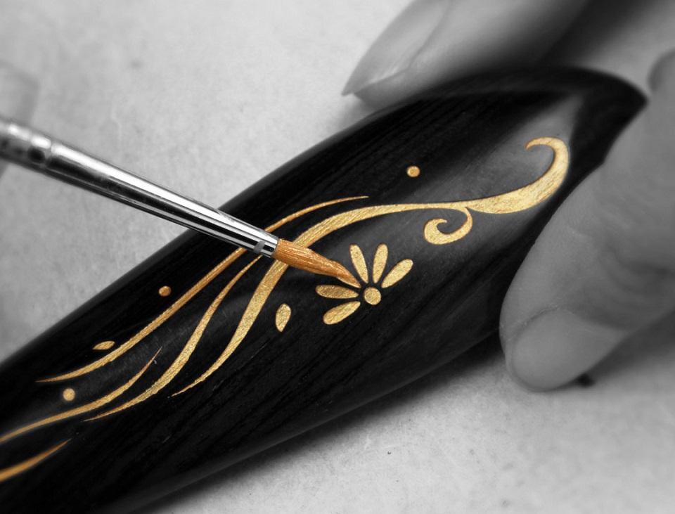 Деревянная расческа для волос XinZhi Ebony акриловый рисунок
