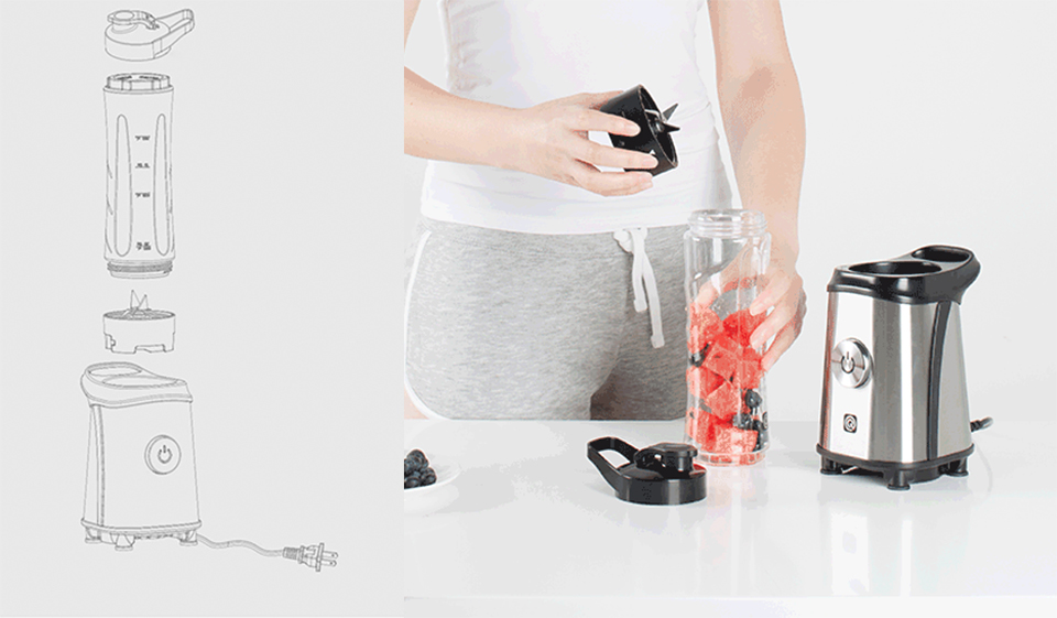 Блендер Circle Kitchen Electric Juice Extractor простая установка