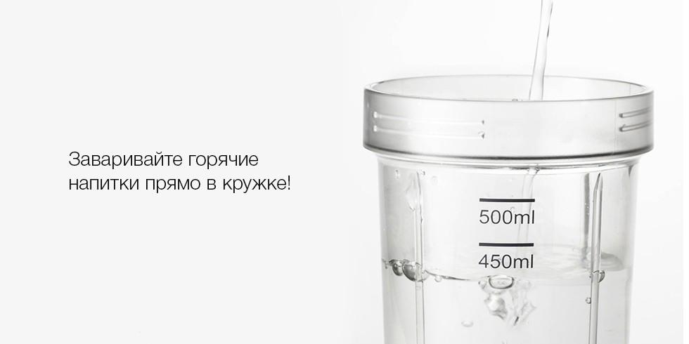 Бутылка для воды Xiaomi Pinlo Portable Tritan Material Bottle Water для блендера Mijia Pinlo Juicer купить в спб