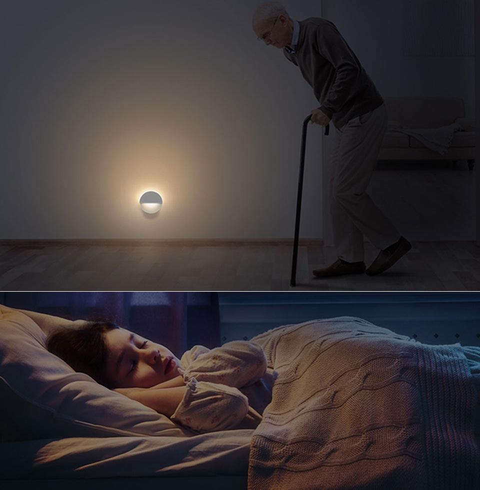 Ночная лампа Mijia Philips Bluetooth Night Light White в коридоре