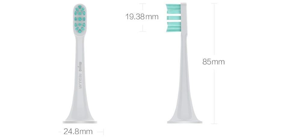 Насадки для зубной щетки MiJia White 3 in 1 KIT (NUN4001) размер