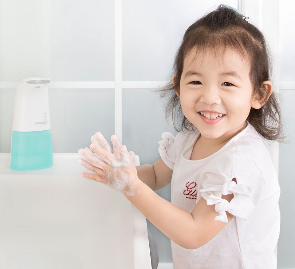 Бесконтактный диспенсер для мыла XiaoJi Auto Foaming Hand Wash White ребенок моет руки