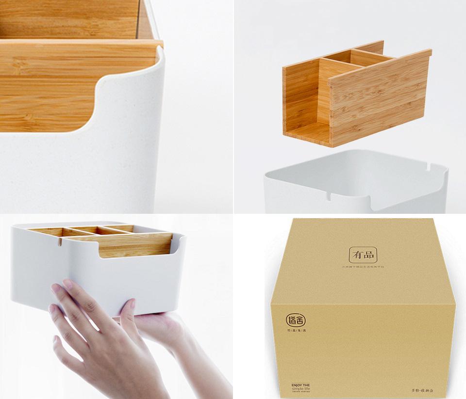 Настольный бамбуковый органайзер Zen`s Bamboo составные части