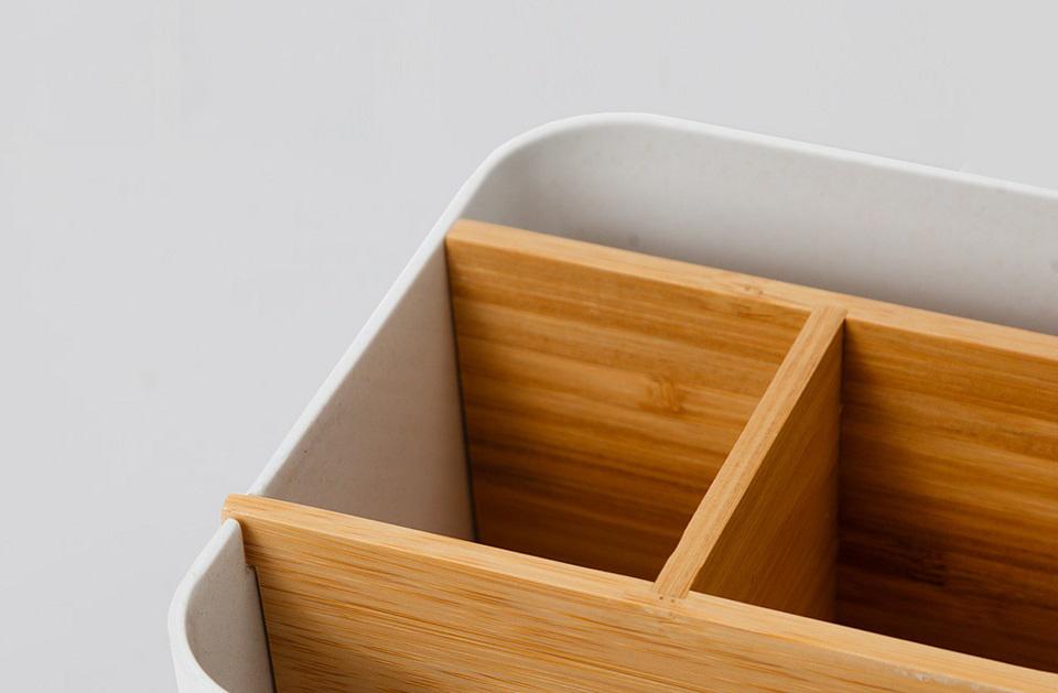 Настольный бамбуковый органайзер Zen`s Bamboo перегородки