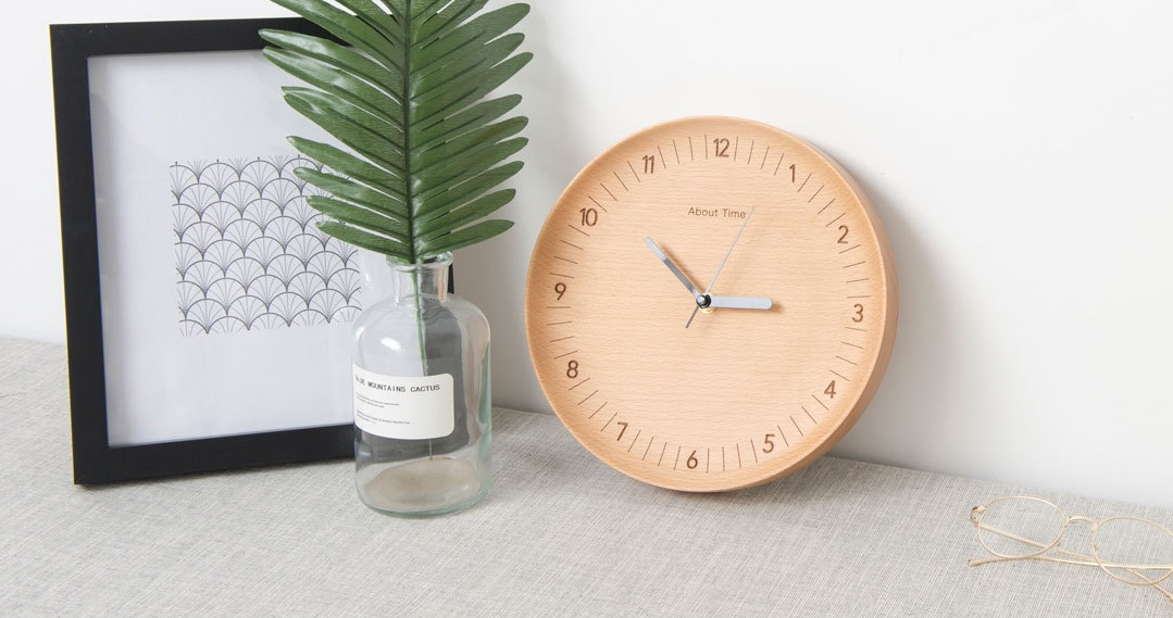 Beladesign Digital Wall Clock From Wood стильные часы