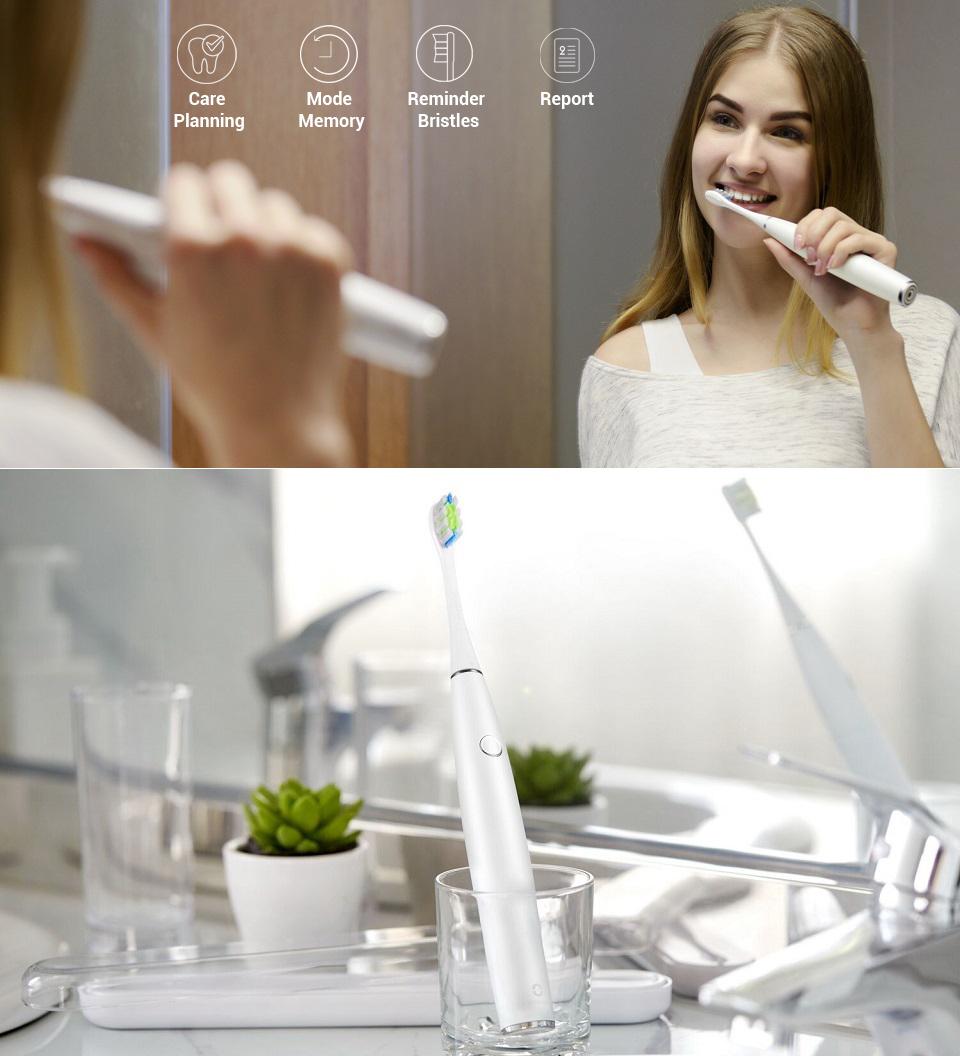 Электрическая зубная щетка Oclean One процесс чистки зубов