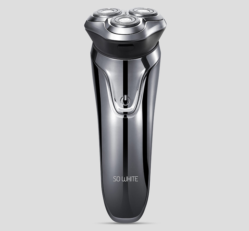Электробритва SO White 3D Smart shaver Black ES3 крупным планом