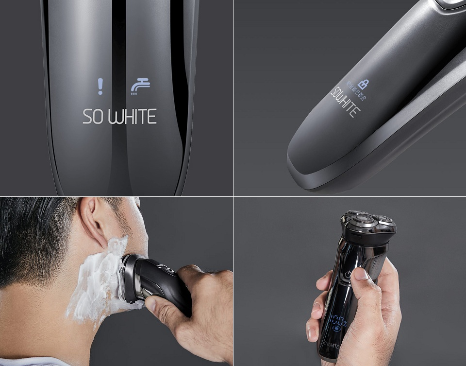 Электробритва SO White 3D Smart shaver Black ES3 система защиты