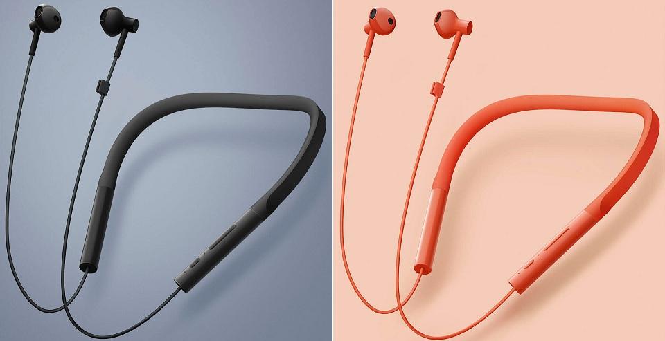 Наушники Mi Bluetooth Neckband Earphones Basic в двух цветах