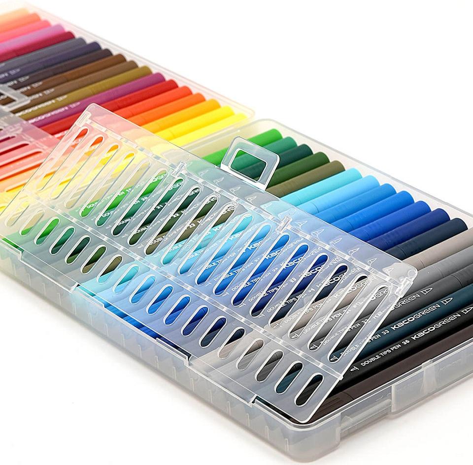 Набор цветных маркеров KACO Double Tips Pen 36 Colors K1037 набор крупным планом
