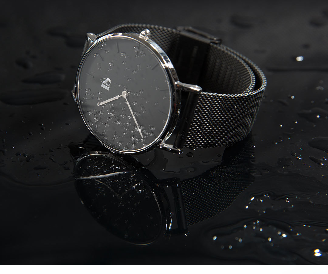 I8 Quartz Watch Black for Man водонепроницаемые часы