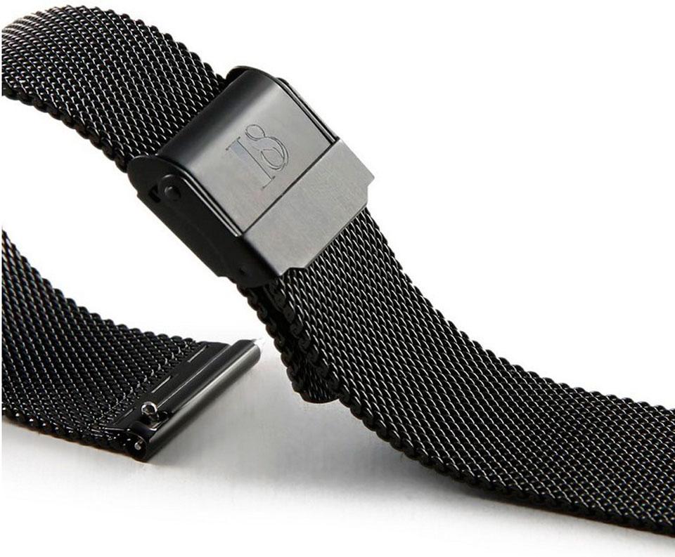 I8 Quartz Watch Black for Man стальной ремешок