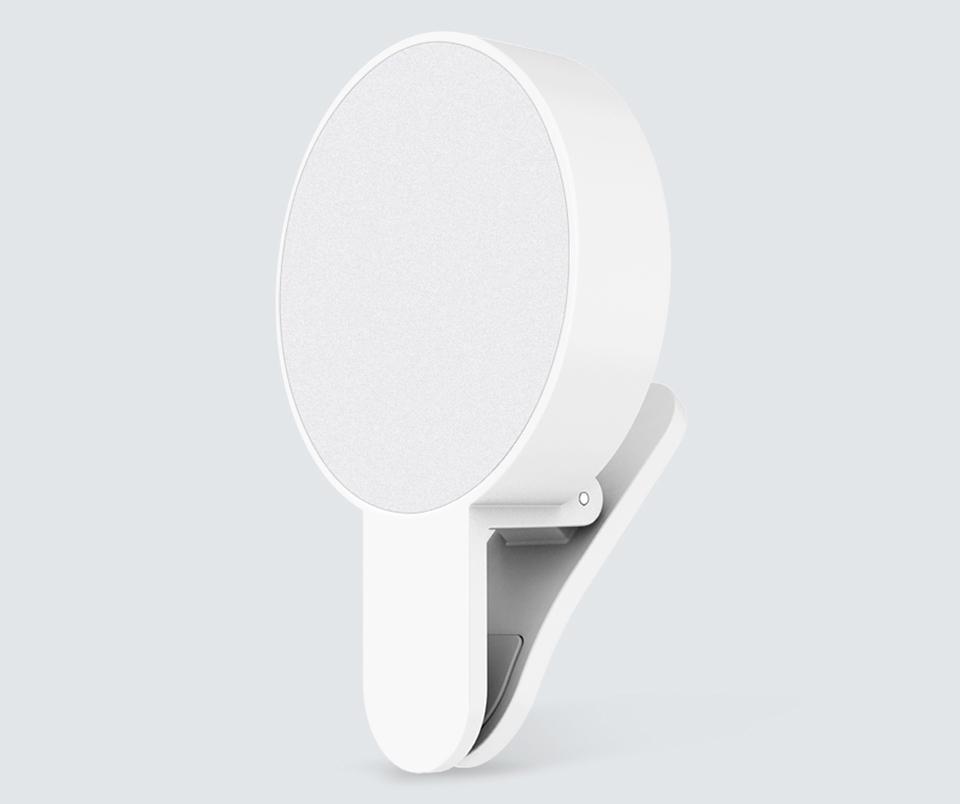 Вспышка для смартфонов Mi Selfie Light Clip White YMBGD001 крупным планом