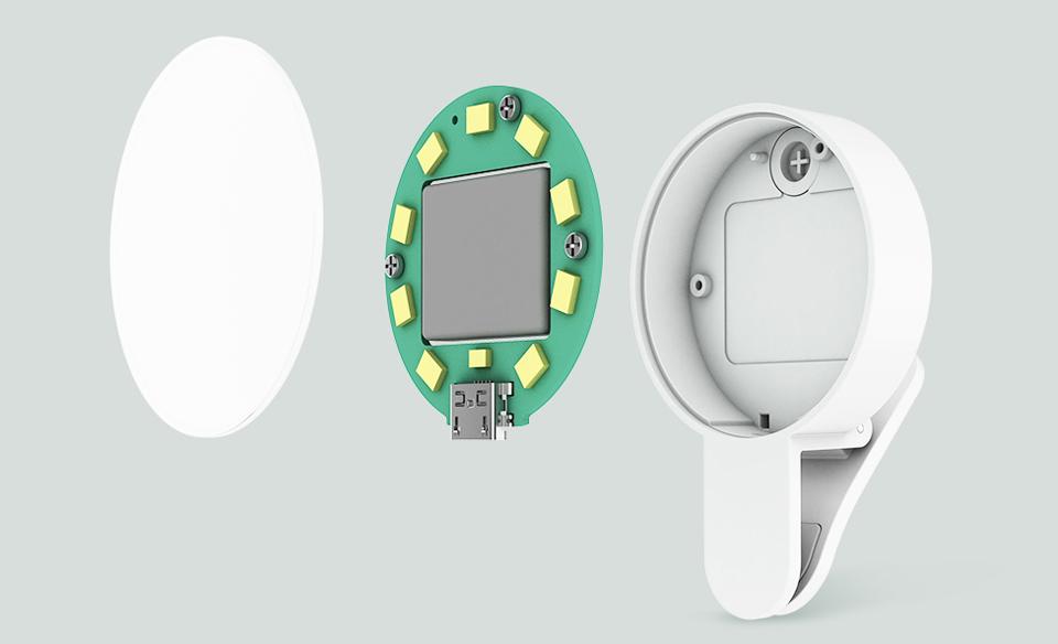 Вспышка для смартфонов Mi Selfie Light Clip White YMBGD001 структура устройства