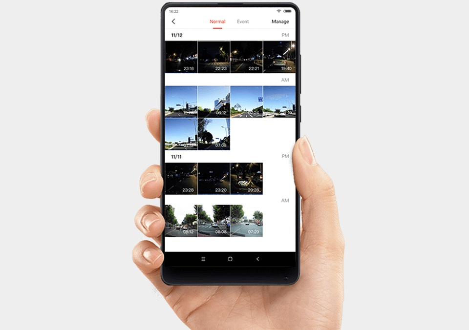 Видеорегистратор 70Mai Smart Dash Cam синхронизация с девайсом