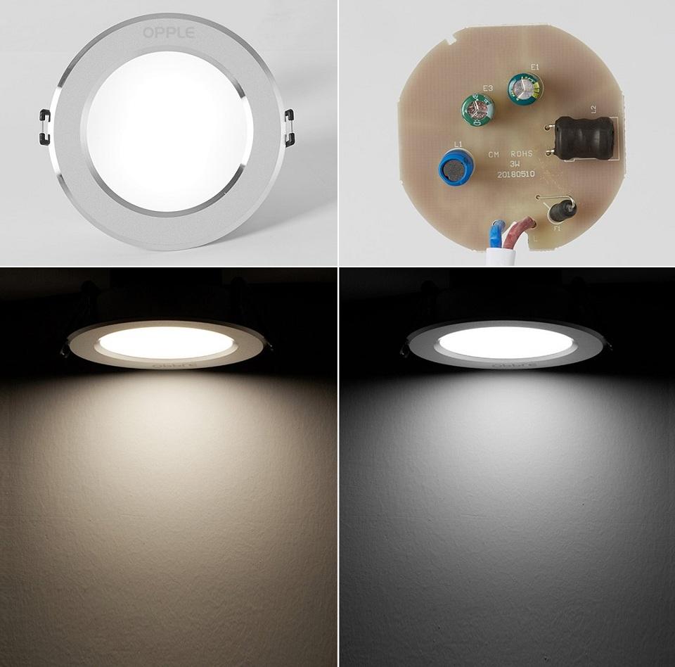 Потолочный светильник OPPLE 3W LED Downlight конструкция