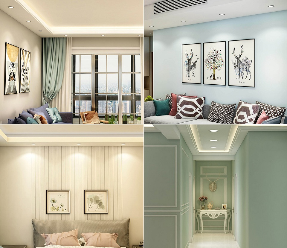 Потолочный светильник OPPLE 3W LED Downlight в разных комнатах