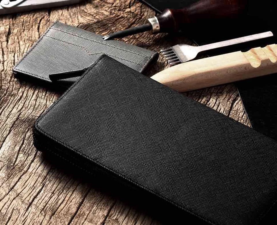 Бумажник кожаный RunMi 90 Points Long Wallet среди прочих предметов