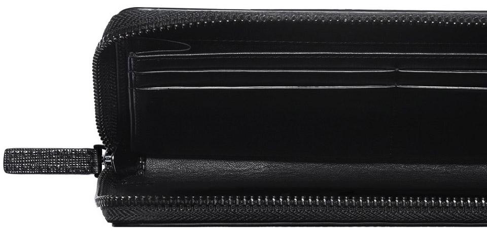 Бумажник кожаный RunMi 90 Points Long Wallet отделения