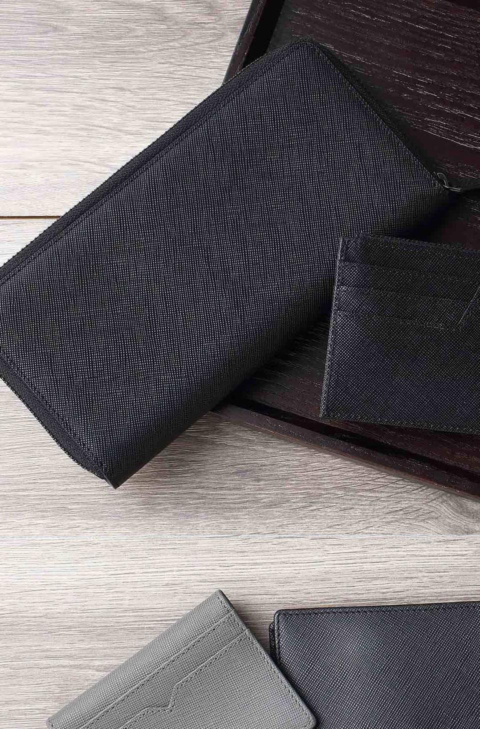 Бумажник кожаный RunMi 90 Points Long Wallet несколько видов бумажников