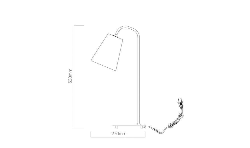 Yeelight Minimalist Iron Lamp габаритные размеры