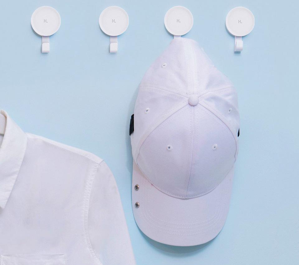 Набор настенных крючков Happy Life Small Hook White 6 pcs set кепка и рубаха на крючке