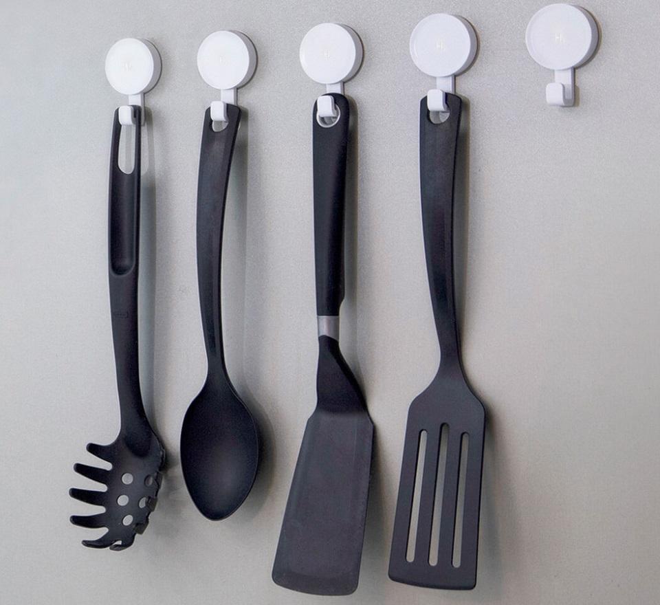 Набор настенных крючков Happy Life Small Hook White 6 pcs set кухонные принадлежности