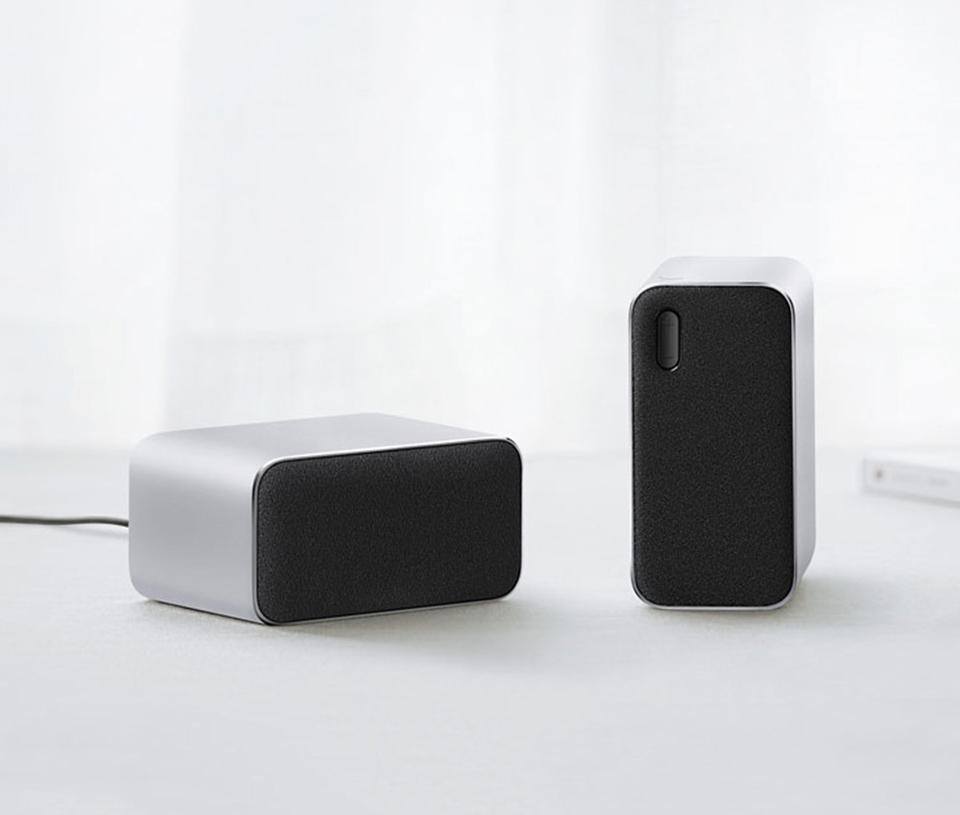 Аудиоколонки Mi Bluetooth Computer Speaker кнопка управления громкостью