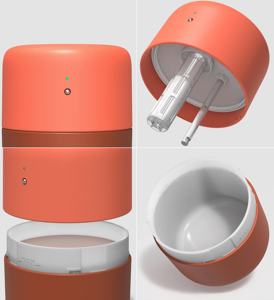 Портативный увлажнитель VH H01 элементы конструкции