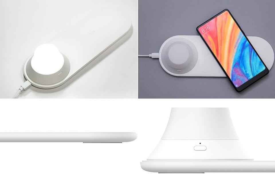 Беспроводное З/У Yeelight Wireless Charging Night Light с разных ракурсов