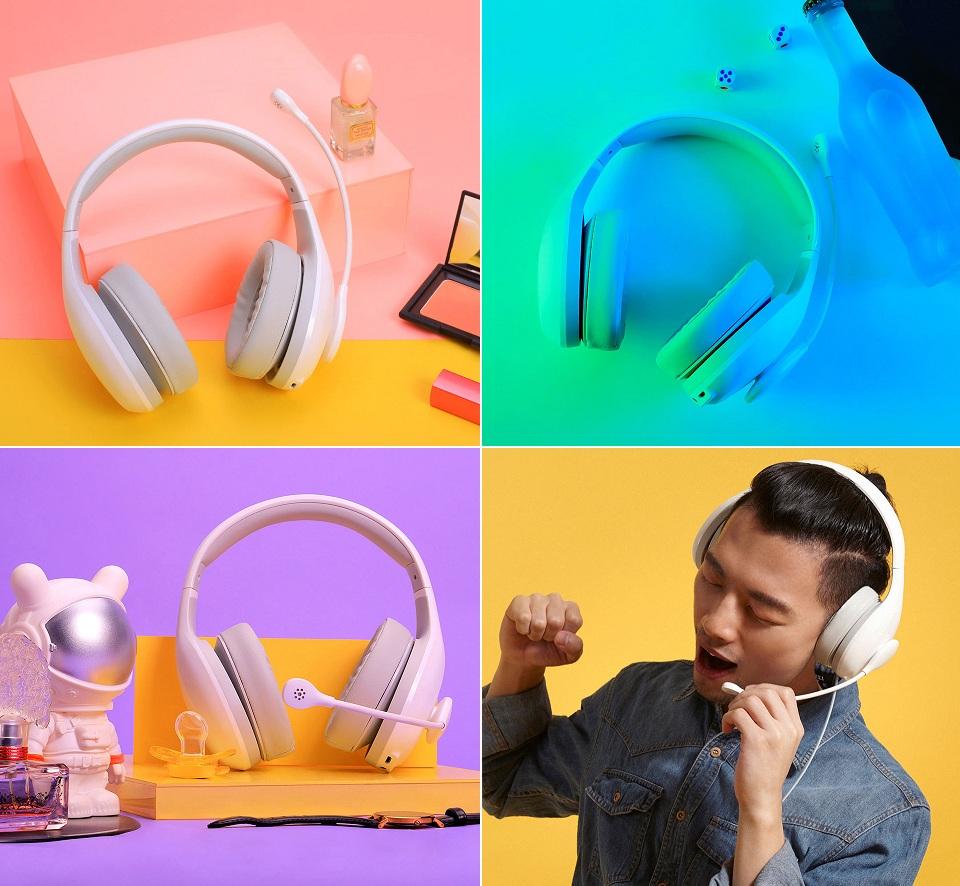 Наушники с микрофоном проводные Mi Karaoke headset элементы дизайна