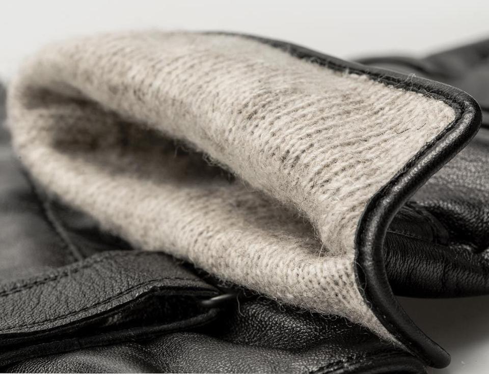 Перчатки кожаные мужские QIMIAN подкладка