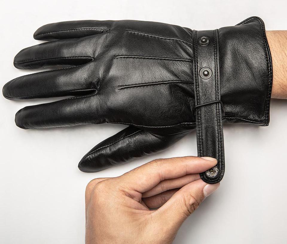 Перчатки кожаные мужские QIMIAN ремешок