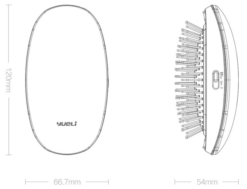 Расческа с ионизацией Yeli Comb Pink размер