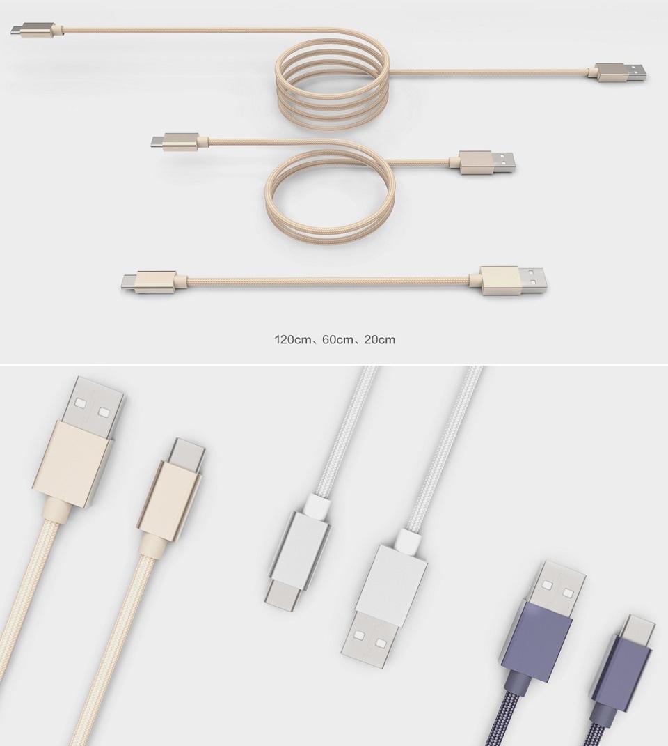Кабель Xiaomi Type-C Fast Charger гамма цветов