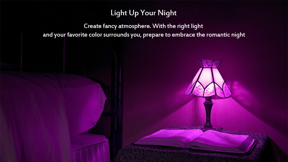 Yeelight LED Smart Colorful Wi-Fi Bulb  классный свет
