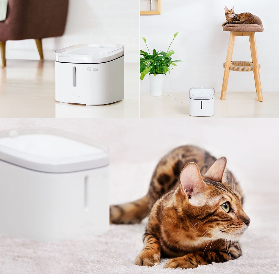 Поилка для животных Kitten Puppy Water Dispenser White MG-WF001 кот