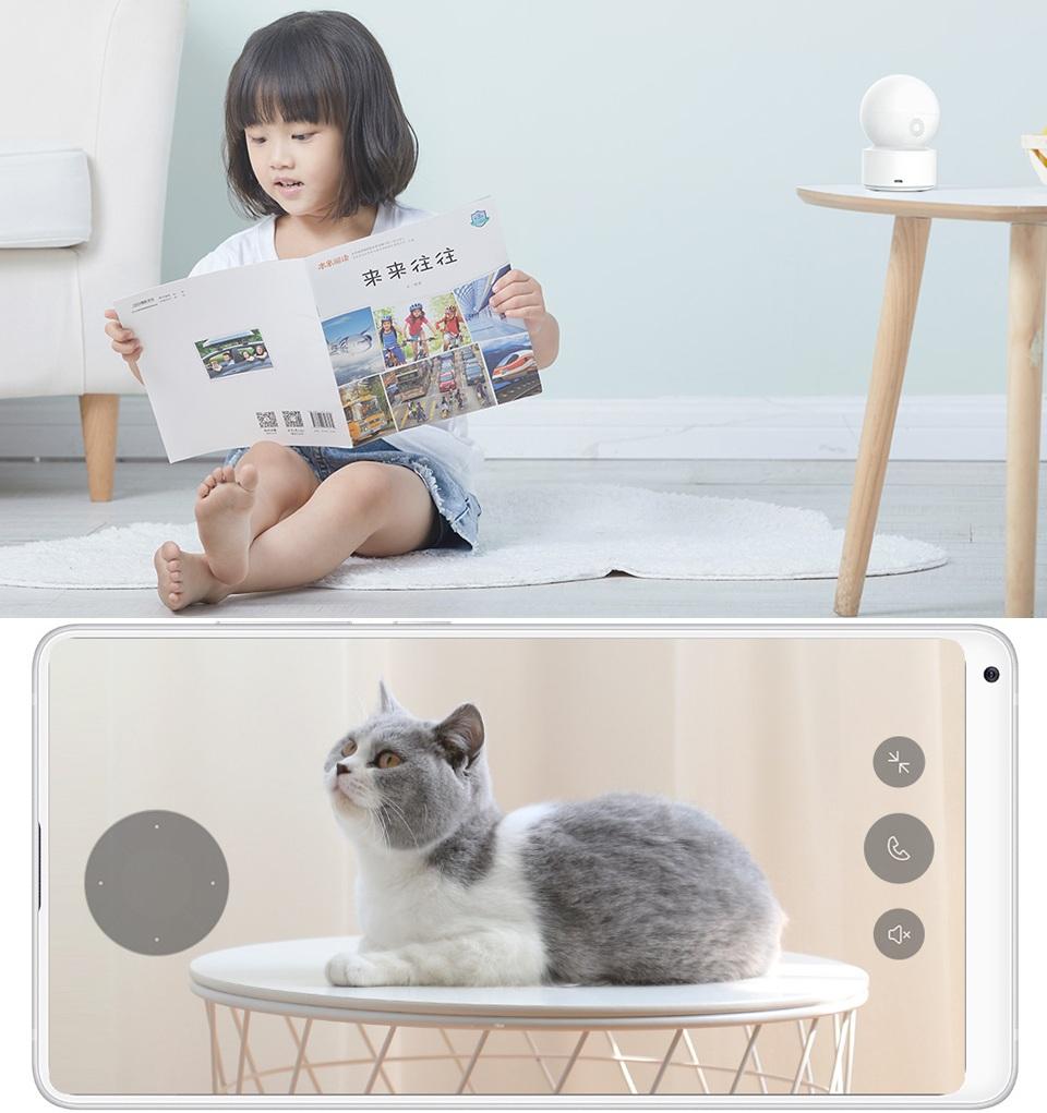 IP Камера iMi Xiaobai Smart Camera PTZ Edition CMSXJ16A девочка и котейка